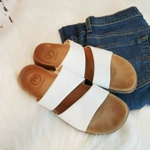 Rockport white leather sandals sz 9M